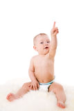 behandla som ett barn att peka upp Royaltyfri Foto