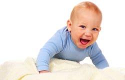 behandla som ett barn att skratta för pojke royaltyfria bilder
