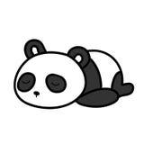 Behandla som ett barn att sova för panda stock illustrationer