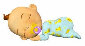 behandla som ett barn att sova för tecknad film Royaltyfria Bilder