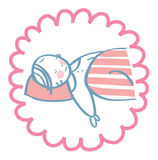 Behandla som ett barn att sova under en napp Arkivbilder