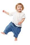behandla som ett barn att ta för första steg Royaltyfri Fotografi