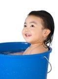 behandla som ett barn badet Royaltyfri Fotografi