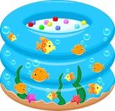 Behandla som ett barn badet badar tecknade filmen Royaltyfria Bilder