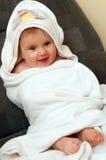behandla som ett barn badlakanet Royaltyfri Foto