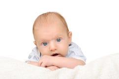 behandla som ett barn bakgrund little som är vit Fotografering för Bildbyråer