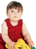 behandla som ett barn bakgrundswhite Royaltyfria Foton