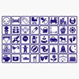 Behandla som ett barn barn för symbolet för rengöringsduken för samlingslogosymbolen Arkivfoton
