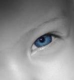 behandla som ett barn blåa ögon Royaltyfri Fotografi