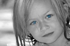 behandla som ett barn blåa ögon Royaltyfri Foto