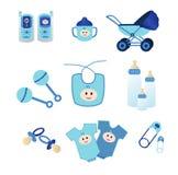 behandla som ett barn blåa symboler Royaltyfri Fotografi