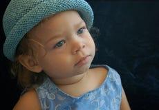 Behandla som ett barn blått Royaltyfria Foton