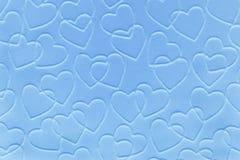 behandla som ett barn blåa hjärtor Arkivbilder
