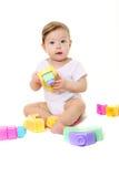 behandla som ett barn block färgat leka Royaltyfri Fotografi