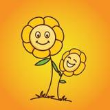 Behandla som ett barn blomman med lutningbakgrund Arkivfoton