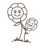 Behandla som ett barn blomman med modellbakgrund Arkivfoton