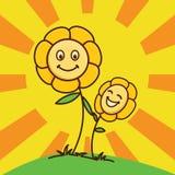 Behandla som ett barn blomman med skenbakgrund Arkivfoton