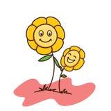 Behandla som ett barn blommavitbakgrund Arkivbilder