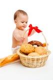 behandla som ett barn bröd arkivbilder