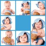 Behandla som ett barn collage royaltyfri foto