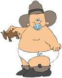behandla som ett barn cowboyen royaltyfri illustrationer
