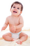 behandla som ett barn den älskvärda blöjan royaltyfria foton