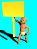 behandla som ett barn den blanka holdingen undertecknar upp Arkivfoton