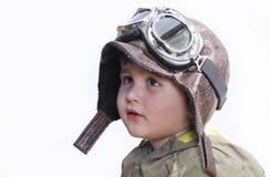 behandla som ett barn den bliende små piloten för gulliga drömmar Royaltyfria Foton