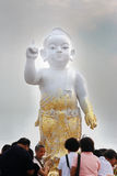 Behandla som ett barn Buddha Arkivbilder