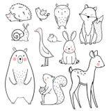 Behandla som ett barn den djura vektoruppsättningen royaltyfri illustrationer