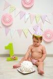 Behandla som ett barn den första årsdagen Royaltyfri Foto