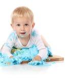 Behandla som ett barn den fantastiska kakan Royaltyfria Foton