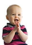 behandla som ett barn den gladde pojken Royaltyfria Bilder