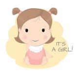 behandla som ett barn den gulliga flickan Arkivfoto