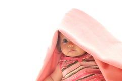 Behandla som ett barn den isolerade filten Fotografering för Bildbyråer