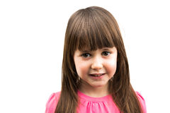 Behandla som ett barn den isolerade flickan Royaltyfri Foto