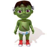 Behandla som ett barn den Jake Frankenstein 3d illustrationen Arkivbilder