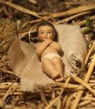 Behandla som ett barn den Jesus juljulkrubban Royaltyfri Bild