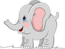 behandla som ett barn den lyckliga elefanten Arkivfoton