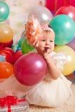 behandla som ett barn den lyckliga födelsedagen Royaltyfri Bild