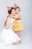 behandla som ett barn den lyckliga födelsedagen Royaltyfria Foton