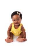 behandla som ett barn den lyckliga flickan Royaltyfri Fotografi
