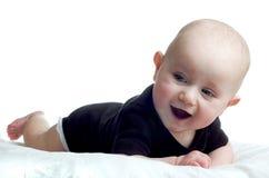 behandla som ett barn den lyckliga flickan little Arkivbilder