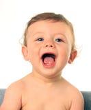 behandla som ett barn den lyckliga pojken Arkivbilder