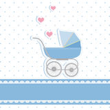behandla som ett barn den nya duschen för pojkekortinbjudan Royaltyfri Bild
