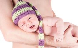 behandla som ett barn den nyfödda farsan Royaltyfria Foton