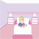 behandla som ett barn den nyfödda flickan Fotografering för Bildbyråer
