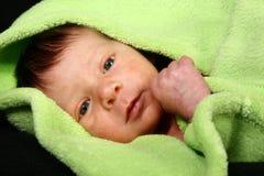 behandla som ett barn den nyfödda pojken Royaltyfri Foto