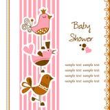 behandla som ett barn den roliga duschen för fåglar stock illustrationer
