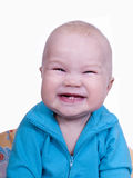 behandla som ett barn den roliga härliga pojken Arkivbild